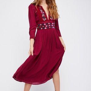 Free people flora midi dress